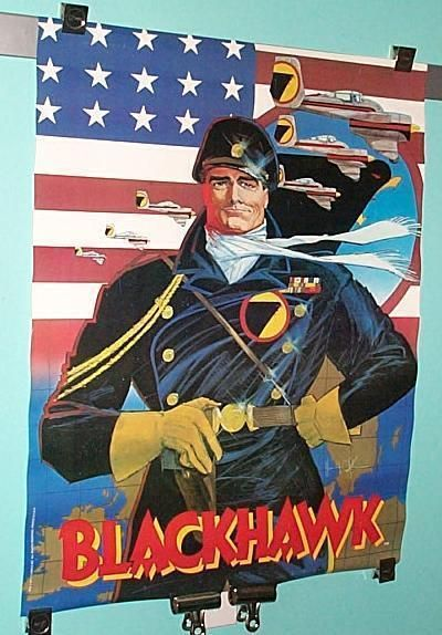 ladies glasses 1987 DC Comics Blackhawk World War II WWII comic book poster  1980  39 s Chaykin art in Collectibles  Comics  Posters   eBay