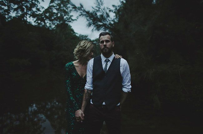 Marissa + Alex's Elegant Australian Camp Wedding (lensed by Dan O' Day) – Just an amazing setting. I particularly love this photo. Dark, moody and romantic.