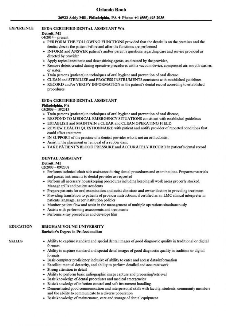 44+ Orthodontic assistant resume templates ideas