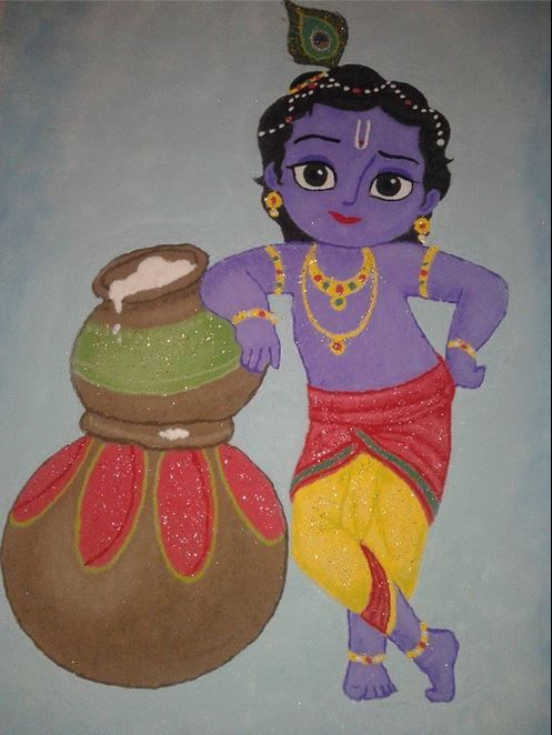 Best Rangoli Designs for Janmashtami.........