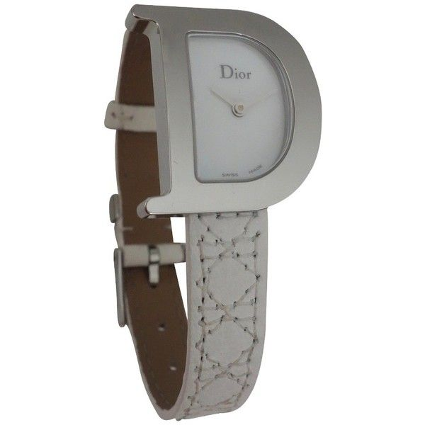 Pre-owned WATCH D DIOR ($820) ❤ liked on Polyvore featuring jewelry, watches, white, christian dior jewelry, pre owned watches, preowned watches, christian dior and preowned jewelry