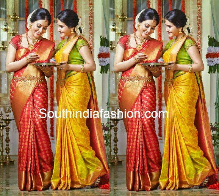 Pothys Wedding Silk Sarees ~ Celebrity Sarees, Designer Sarees, Bridal Sarees, Latest Blouse Designs 2014
