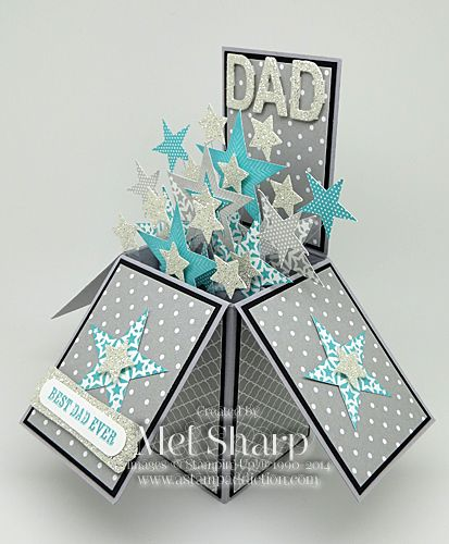 Today I am sharing the card in a box I made for Father's Day for the most amazing man I know. He's pretty special, and needed a pretty special card. I think I nailed it with this one! I pulled ou...