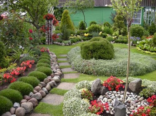 18 Best Garden Landscapes  like rock border and pavers
