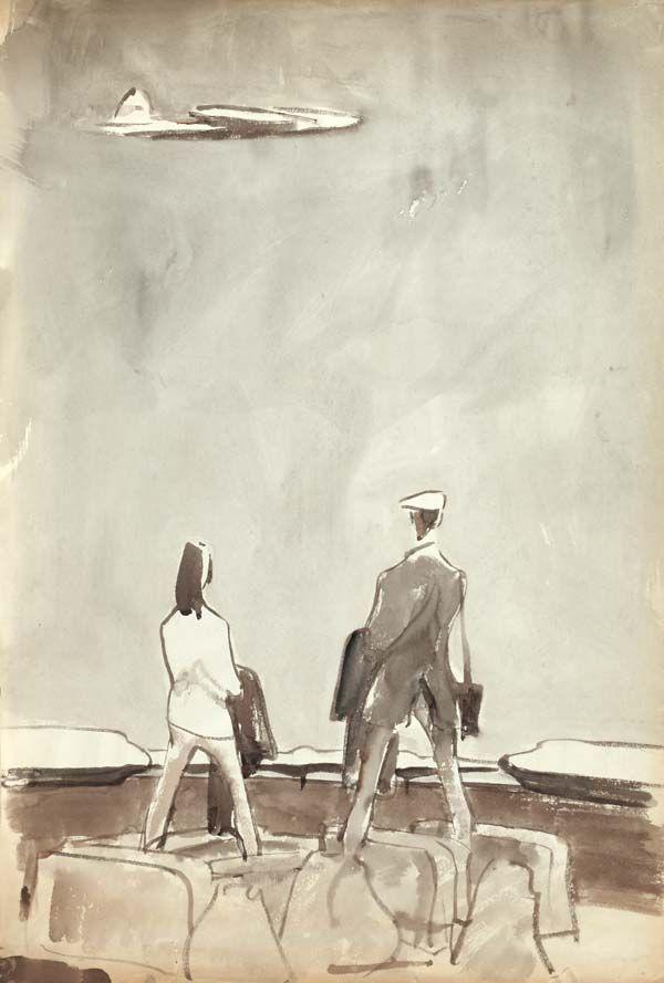 Сойфертис  Леонид Владимирович (Россия, 1911-1996) «Перед вылетом»