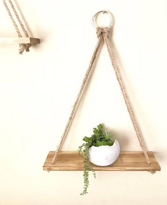 Hanging shelves, Planter, Handmade, Wall Decor, Rustic Shelves, Wall Planter, Shelves, Bathroom Shel – Ideias