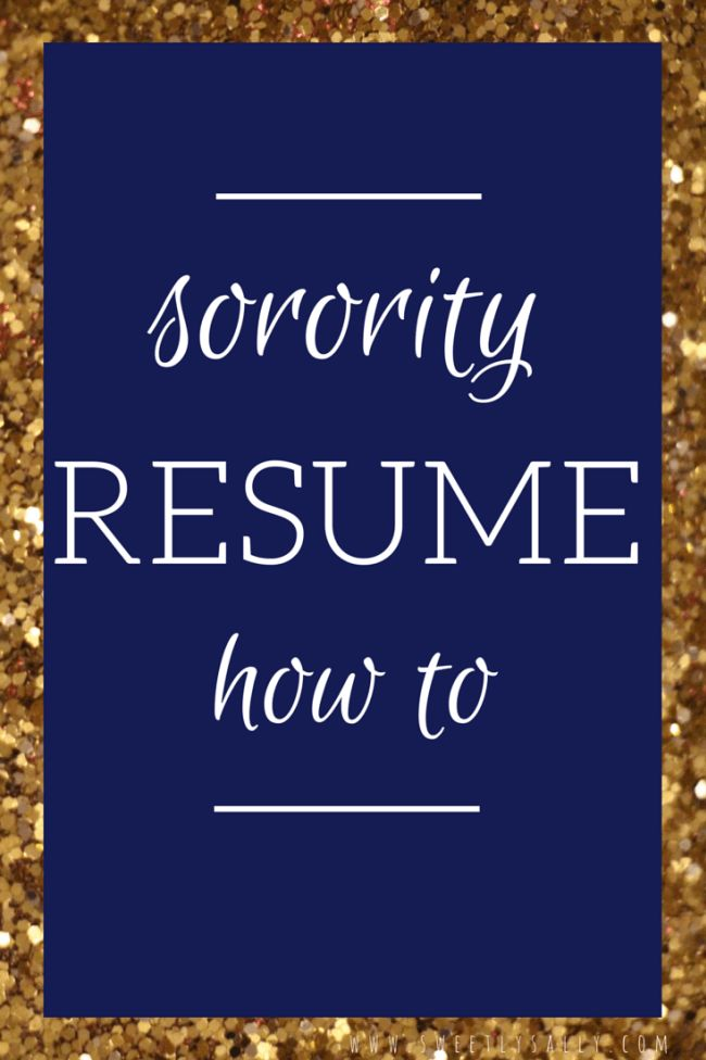 sorority resume college pinterest college packing