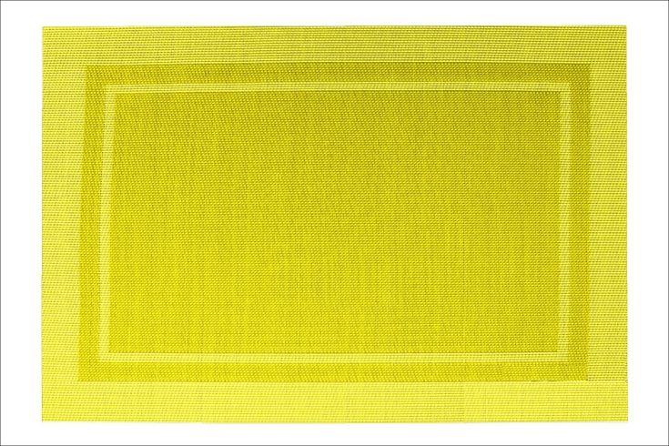 Obdélníkové prostírání na stůl žluté barvy