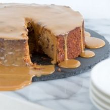 Sticky toffee koffie pudding (of taart) - recept