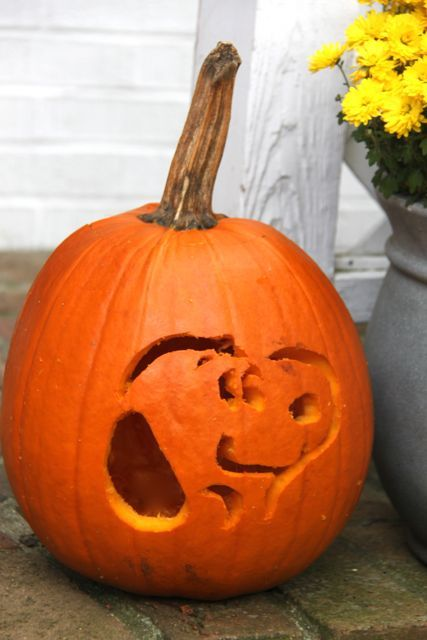 Snoopy Carved Pumpkin For The Peanuts Movieu2026so Cute!! //  SmashedPeasandCarrots. Part 85