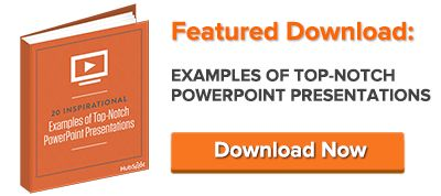 Get inspired by these 20 top-notch PowerPoint presentation examples to create your own PowerPoint or SlideShare presentation.