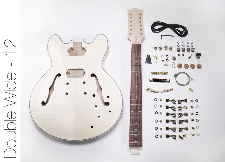 DIY Electric Guitar Kit – 12 String 335 Style Build Your Own Guitar Kit