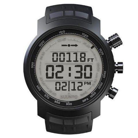 Image of Suunto Elementum Terra Black Rubber / Light Display Wrist - Top Computer -Black