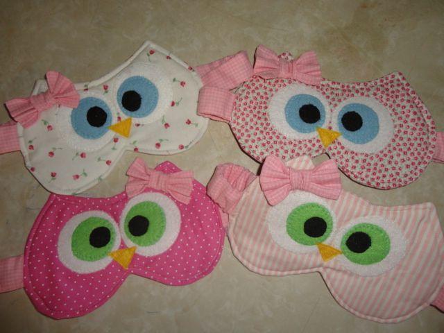 Mascaras de dormir de corujas... para maiores informações e encomendas, coisinhasdashi@gmail.com