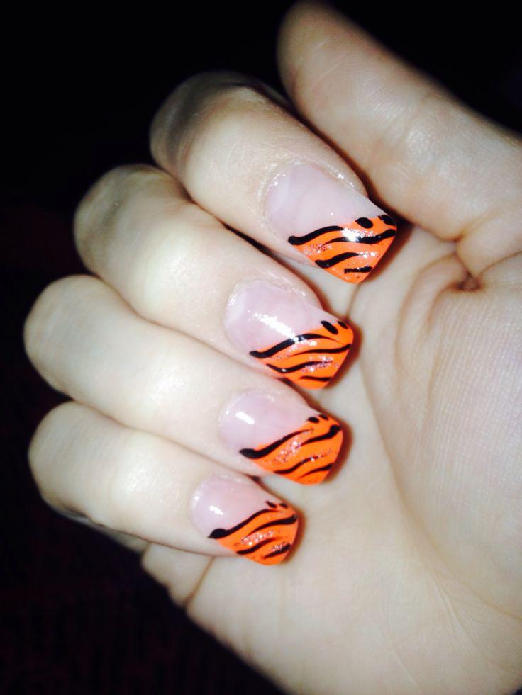15 best Bengals nails images on Pinterest   Nail scissors, Nail art ...