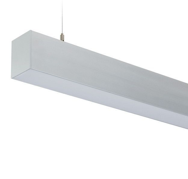 LP Direct - Extruded aluminium suspended beam lighting system - Compact and streamlined design in a 60mm channel. Integral ballast/driver, high impact acrylic lens or . continuous row mounting for seamless light look. Fluorescent or LED lamping options. Suspended, ceiling or wall mounted options available