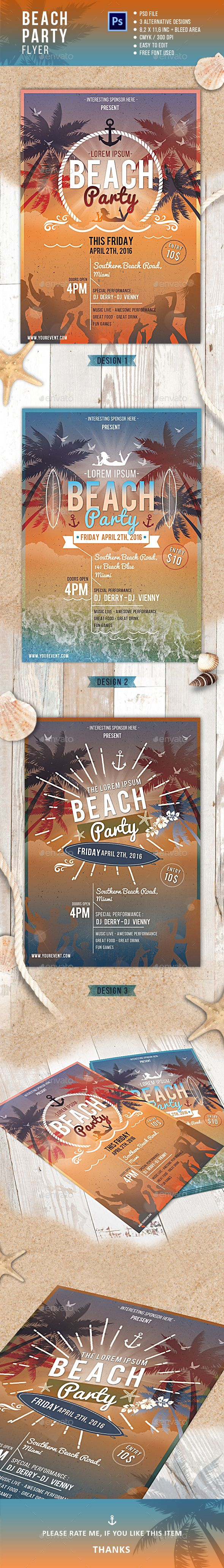 Beach Party Flyer,beach, beach party, flyer, flyer template, holiday, layered, music, pool party, poster, psd, retro, retro summer, spring, summer, summer break flyer, summer event flyer, summer festival, summer flyer, summer party flyer, summer poster, summerfest flyer, summerfest poster, sun, travelling flyer, vintage