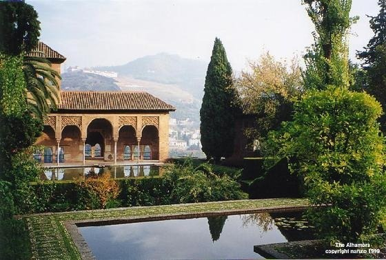 Palace of El Partal in The Alhambra - Spain