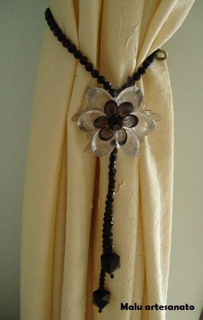 pingente de cortina preto e transparente3