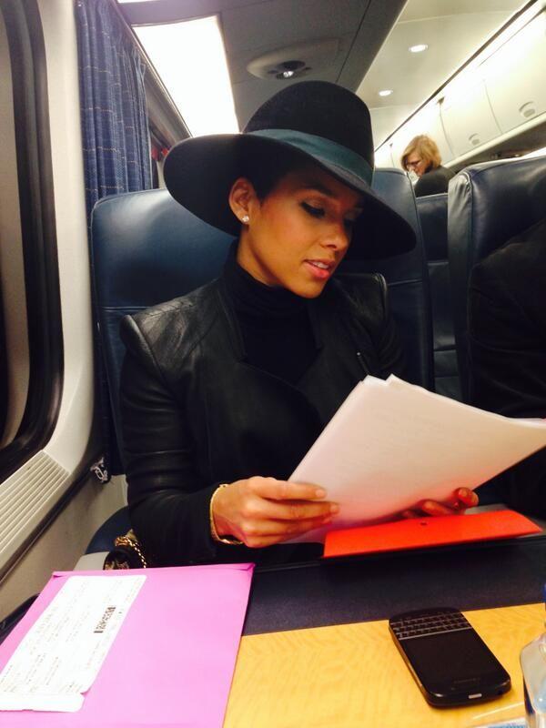Mail Bombs: Alicia Keys's Maison Michel Fara Black Wide Brimmed Fedora, Beyonce's Yoncé Video La Perla Fiebre De Amor Fringe Balcony Black Bra and Tom Ford Fall 2013 Lace Track Pants, and Miranda Kerr's New York Augustin Teboul Black Crochet Sweater!