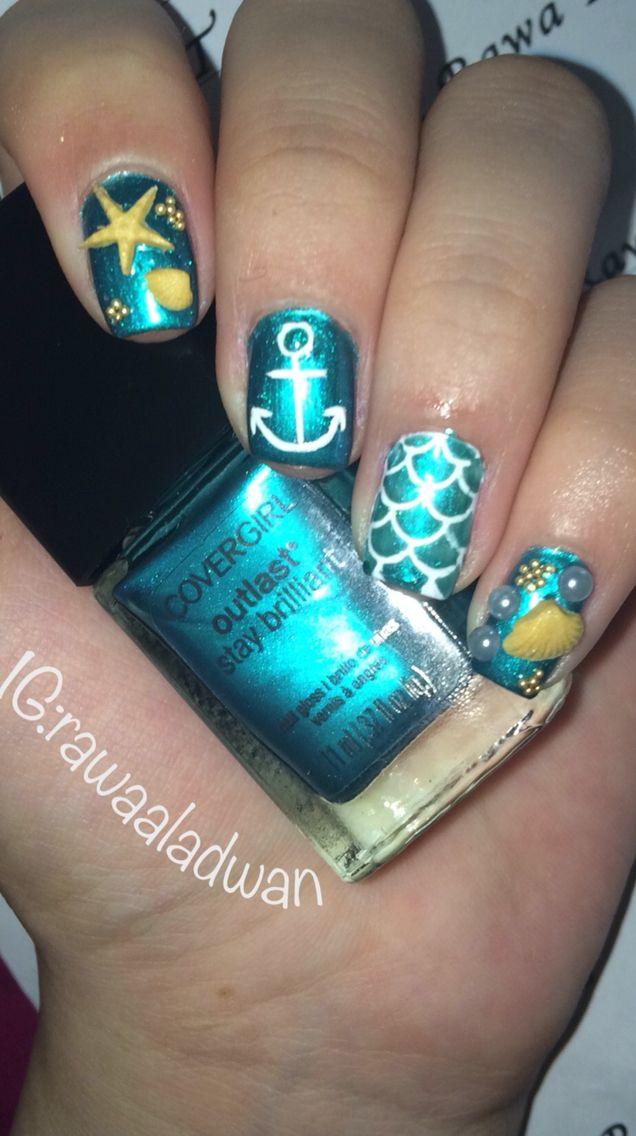 summer acrylic nail