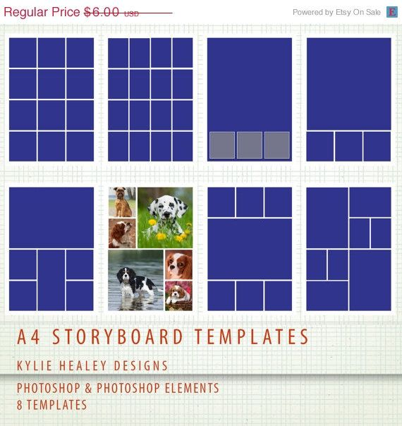 SALE A4  8 x PSD Storyboard Photographer & Digital by KHDigi, $4.32