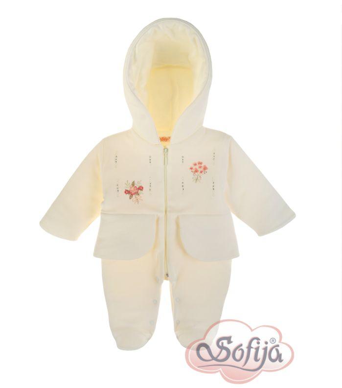 Ciepły pajacyk dla dziewczynki Dila www.sofija.com.pl #sofija #pajacyk #kombinezon #dziecko #ubrania #kidsfashion #baby #babymode #kindermode #kinder #ребенок #мода #vaikas #çocuk