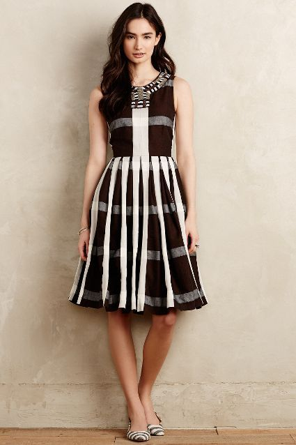 Pleated Plaid Dress - anthropologie.com