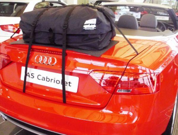 Die Alternative zu einem Gepäckträger für Audi A5 Cabrio.Hinzufügen von Wasserdicht 50 Liter Gepäckraum