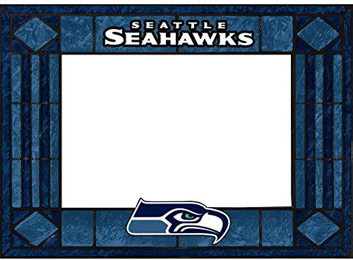 Seattle Seahawks Art Glass Horizontal Frame  http://allstarsportsfan.com/product/seattle-seahawks-art-glass-horizontal-frame/  Horizontal Picture Frame Hand-painted art glass. Featuring team colors,logos