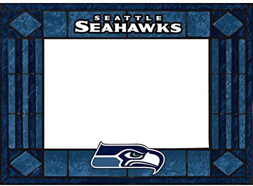 Seattle Seahawks Art Glass Horizontal Frame  http://allstarsportsfan.com/product/seattle-seahawks-art-glass-horizontal-frame/  Horizontal Picture Frame Hand-painted art glass. Featuring team colors,logos