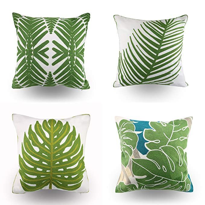 Hodeco Embroidery Throw Pillow Covers Decorative Couch Throw