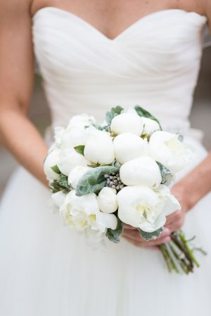 White Peony and Succulent Bouquet | photography by http://emiliajanephotography.com/