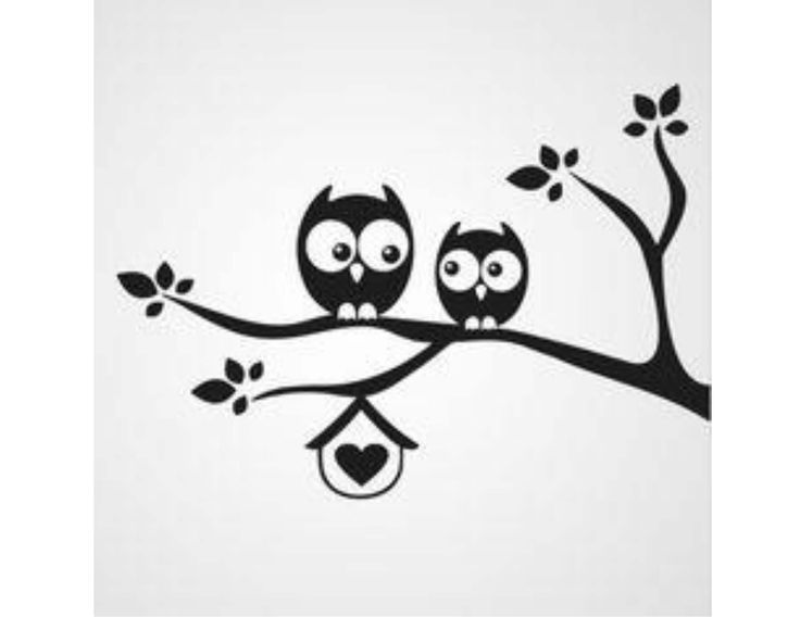 Owl silhouette for nursery