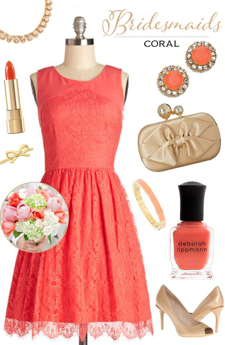 Coral Color Combinations Best 25 Coral Dress For Wedding Ideas On Pinterest Bridal