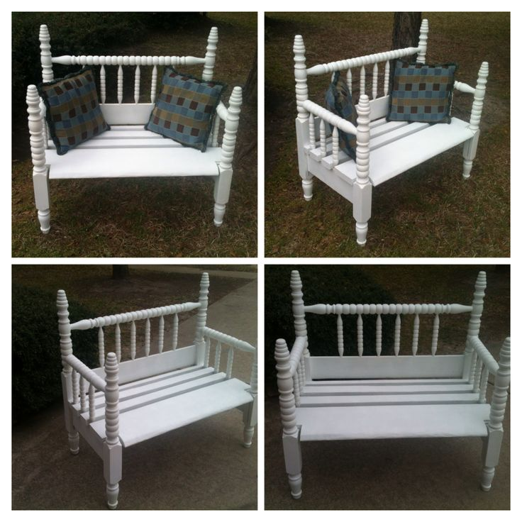 Bench Made From A Spindle Bed Frame We Used Both The