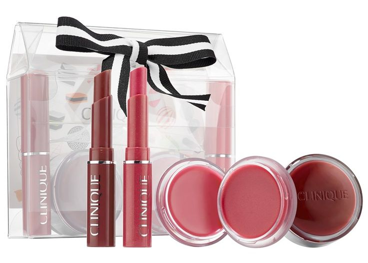 The Clinique Holiday 2016 sets are starting to trickle in and one of them on my list is the Clinique Honey, Honey Lip Set ($36)! This one loads you up with