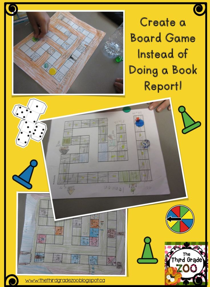 Create Board Games Instead of Book Reports! Board Games are cross curricular, engaging, and fun your students will love this dynamic way of learning and sharing about literature. Read all about it in this blog post.