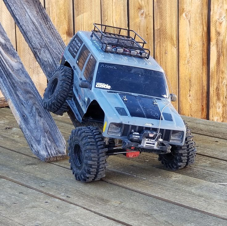 Axcial Scx10 Ii Rc Jeep Cherokee With Warn Winch And 2 2 Mud Slingers Rc Cars Rc Jeep Rc Rock Crawler