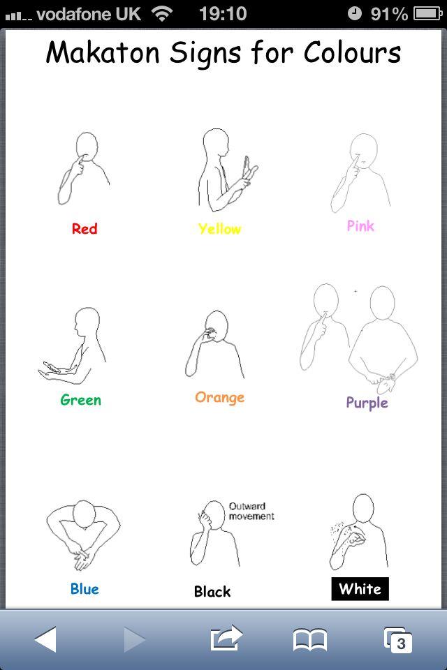 Makaton colours