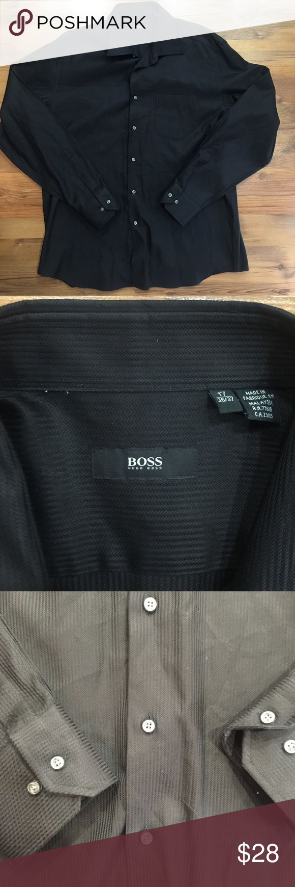 Big and Tall Hugo Boss Long Sleeve Button Up Shirt Big and tall size XL. Gently worn. No flaws. See pictures for details. Hugo Boss Shirts Dress Shirts
