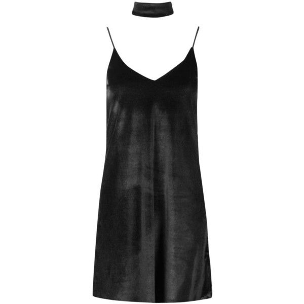 Boohoo Rosine Velvet Strappy Choker Slip Dress | Boohoo ($14) ❤ liked on Polyvore featuring dresses, white cami, velvet bodycon dress, bodycon maxi dress, white slip dress and white party dresses