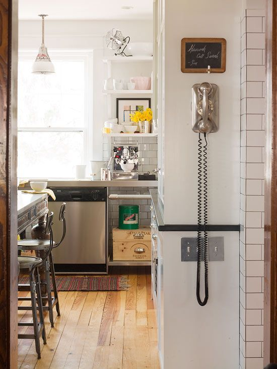 Replace Switchplates...Replace a plastic switchplate with a wood, metal, or ceramic cover to make a visual statement. Some switchplates are even textured to blend in with marble, tile, or stone surfaces. Do this for light switches, electrical outlets, and phone and cable jacks.