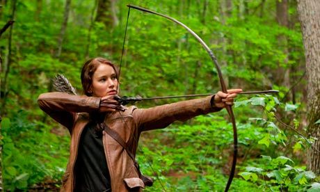 "An Olympic moment for The Hunger Games. Katniss Everdeen's bow-and-arrow skills have made archery cool, the Guardian reported. ""Last year there was a survey of 12-18 year olds who were asked what Olympic sport they would like to try and archery came out top,"" said Peter Jones of Archery GB."