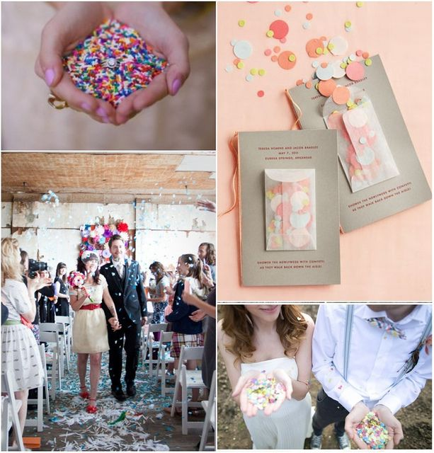 throw sprinkles instead of rice for weddings - Google Search