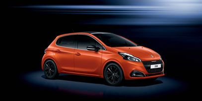 New #Peugeot208! Look at this sparkling Orange Power!