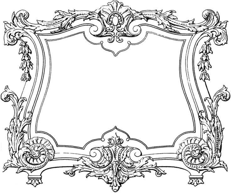 Decorative French Frame Image~The Graphics Fairy.