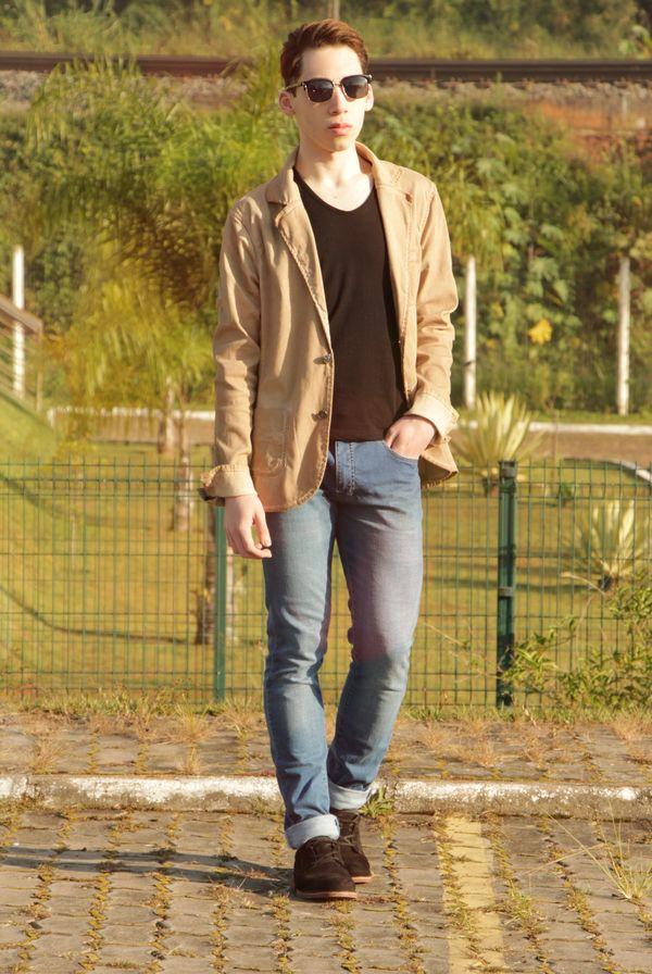 Light Tan Leather Blazer Fashion Blog Mens