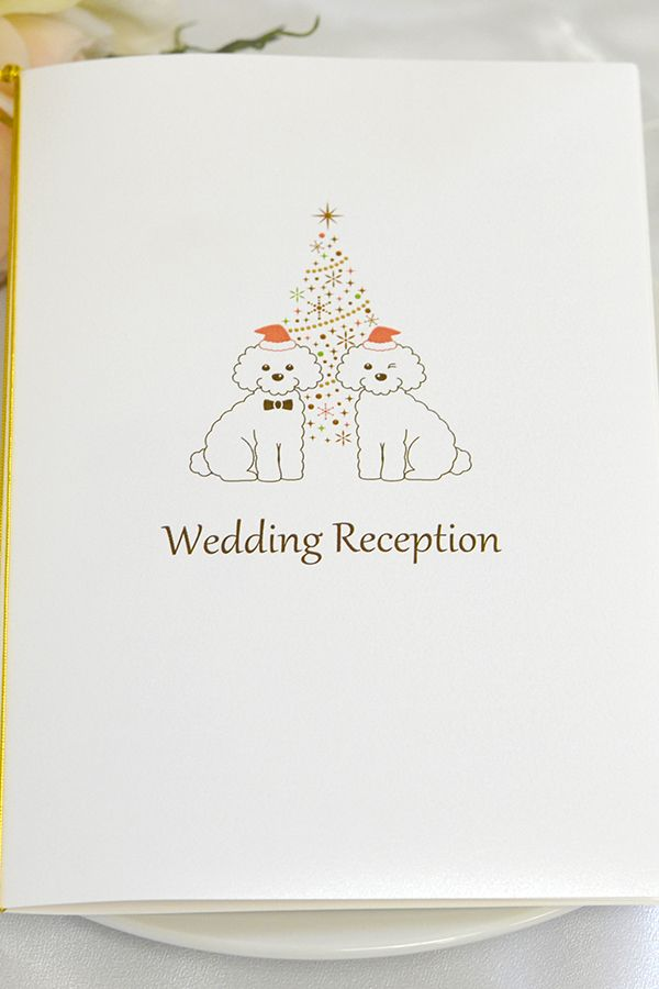 手作り【席次表キット】いぬ・クリスマス 犬好きな方の結婚式におすすめ! 可愛いわんちゃん達がお二人を祝福♪ ペットと一緒の結婚式にもピッタリ★ クリスマス限定!犬デザインの席次表キットです。 メールで送られてくる専用ワードテンプレートを使えばお家で簡単に作成・印刷ができちゃいます!