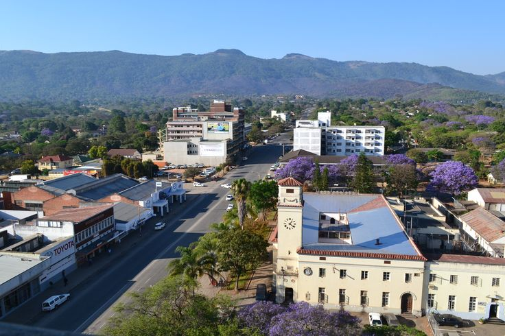 Mutare, Zimbabwe - with my old office in the foreground!